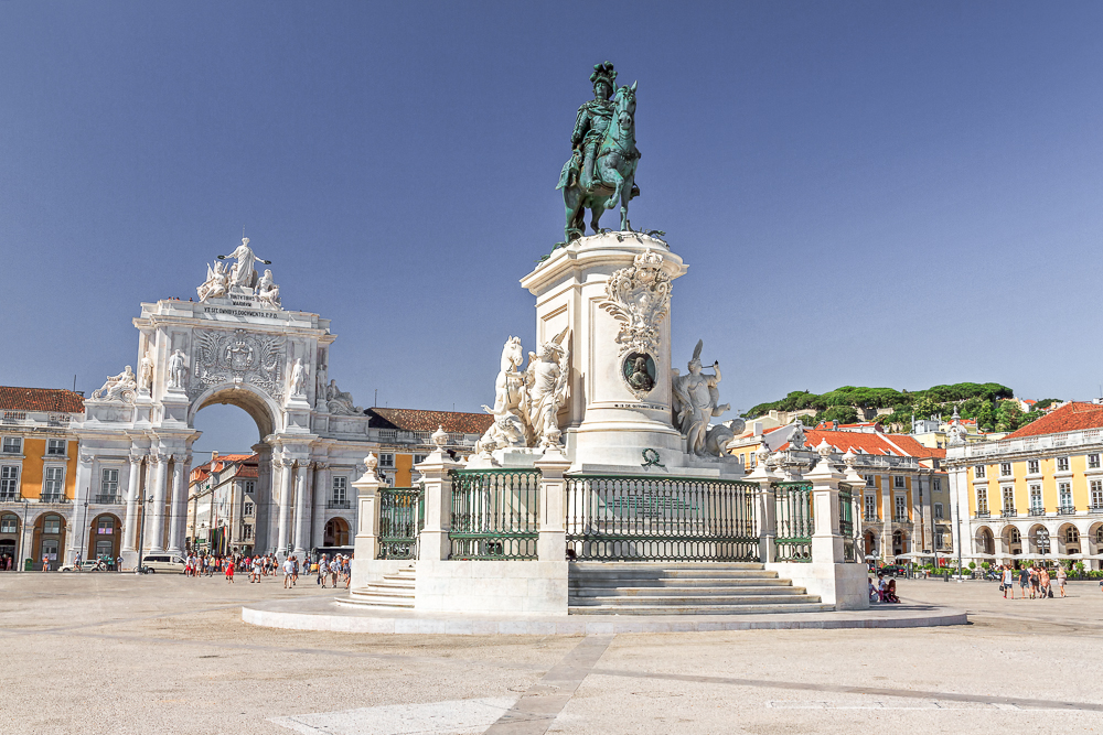 Commerce Square is one of the best places to see in Lisbon in 3 days.
