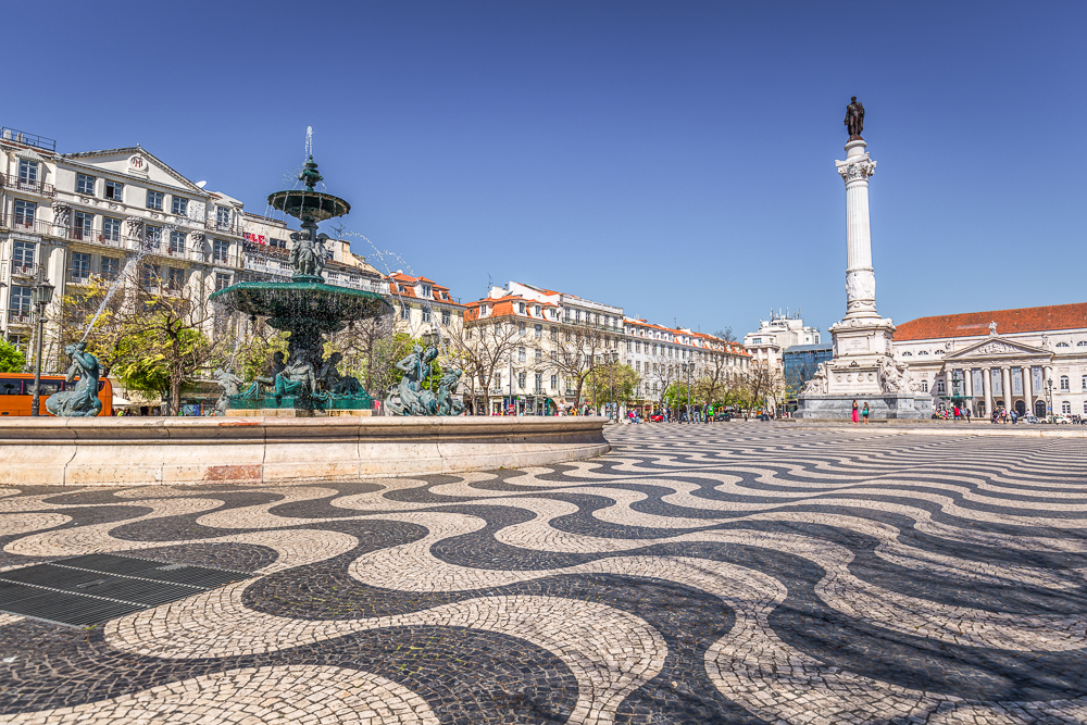 Rossio Square is one of the must-sees in 3 days in Lisbon.