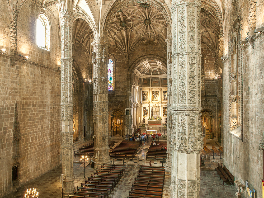 The interiors of Jeronimos Monastery are a must-see during your 3 days in Lisbon.