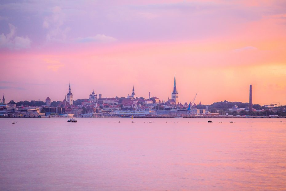 When arriving to Tallinn by boat from Helsinki, the cityscape looks beautiful.
