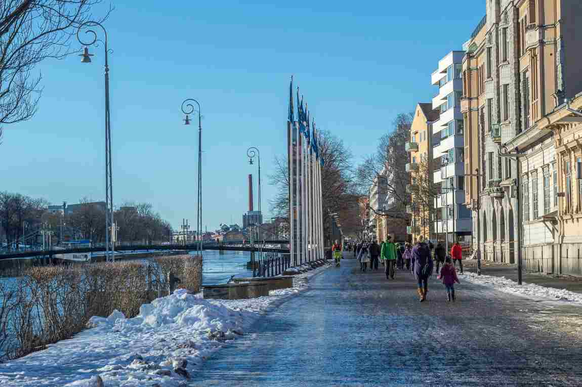 turku aura river riverside