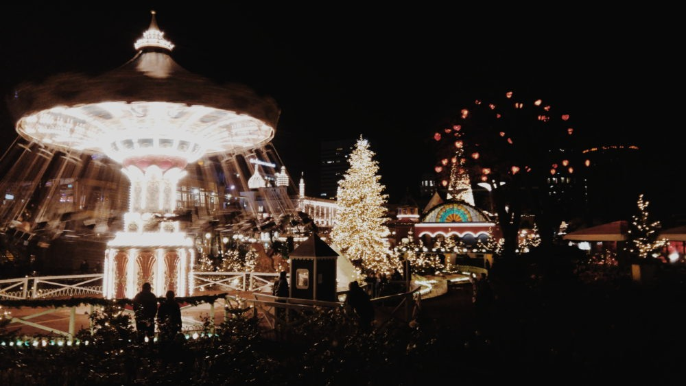 Tivoli is fully decorated during the Christmas season.