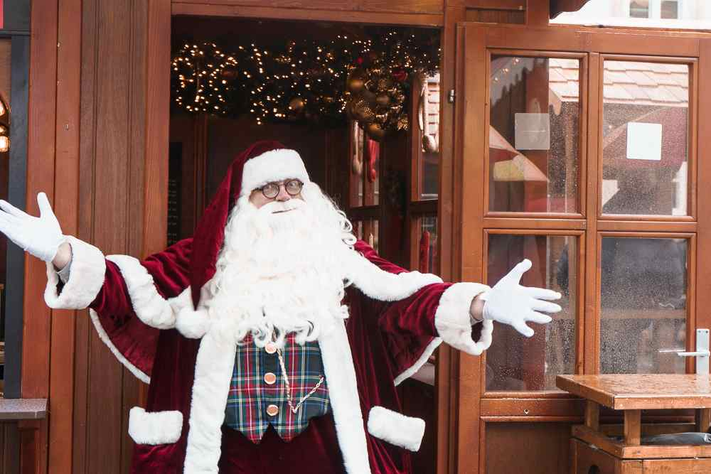 You can meet Santa Claus all of December at H.C. Andersen Christmas market in Copenhagen.