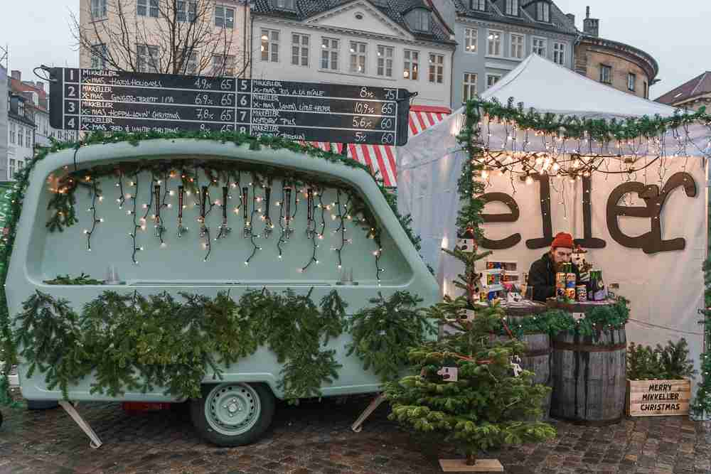 Mikkeller offers a selection of the Christmas beers at H.C. Andersen Christmas market in Copenhagen.