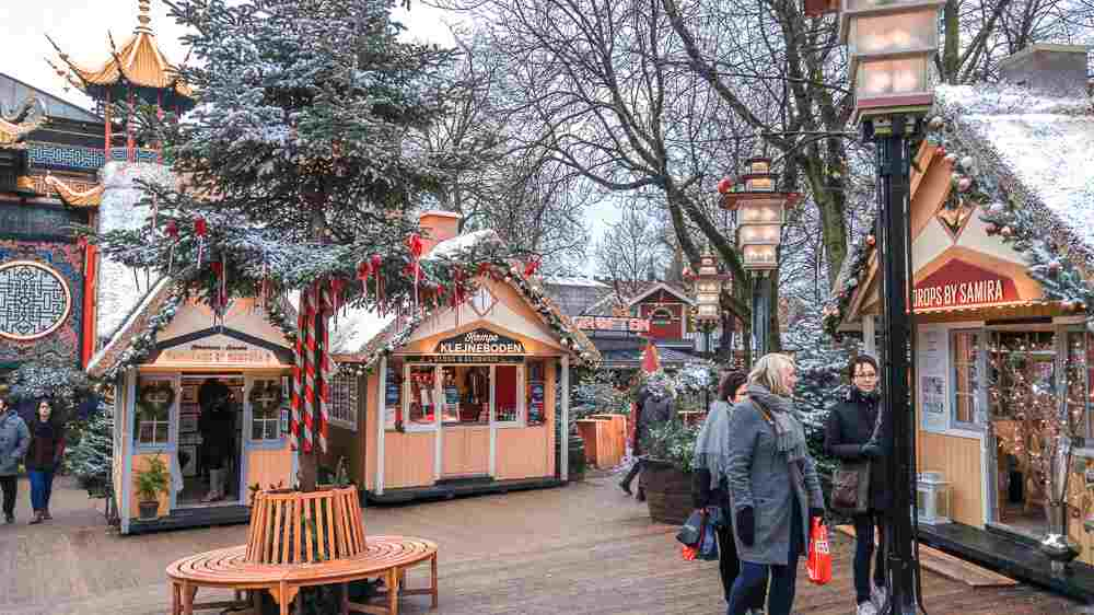 The Christmas market in Tivoli looks like it popped straight out of a fairytale.
