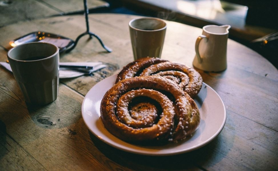 What to eat in Stockholm: You have to eat a Swedish cinnamon bun for fika when spending 3 days in Stockholm.