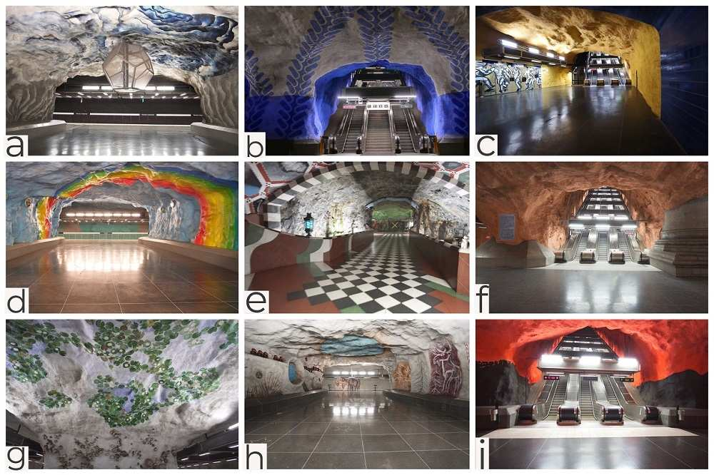 What to see in Stockholm: Examples of Stockholm's metro art which should definitely be seen when spending 3 days in Stockholm.
