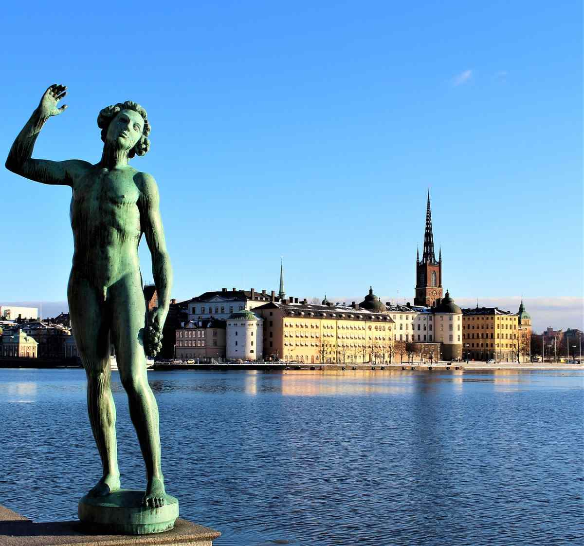 3 Days in Stockholm: View of Gamla Stan from across the water.