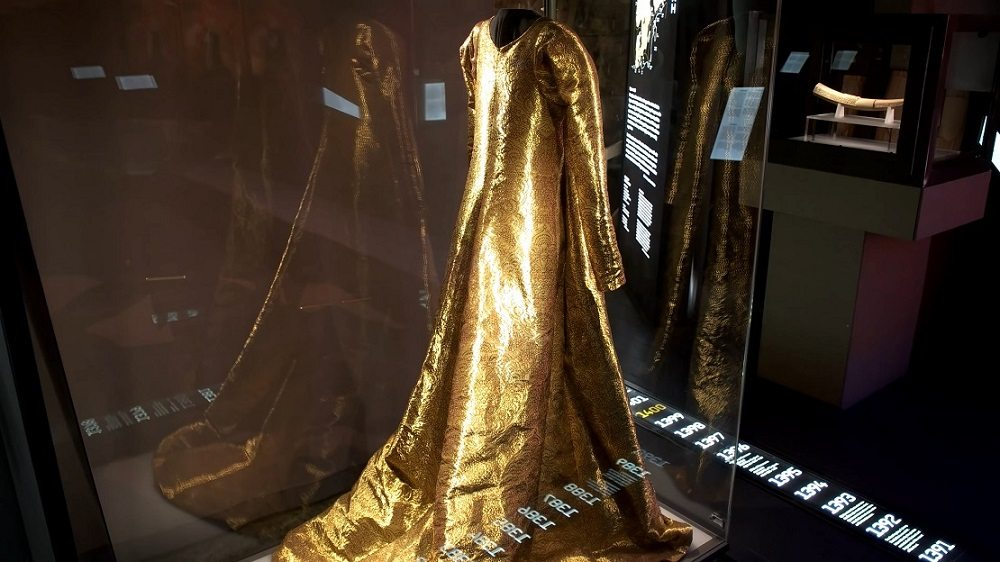 Free things to do in Stockholm: A golden cloak is only one of the many exhibits at the Swedish History Museum.