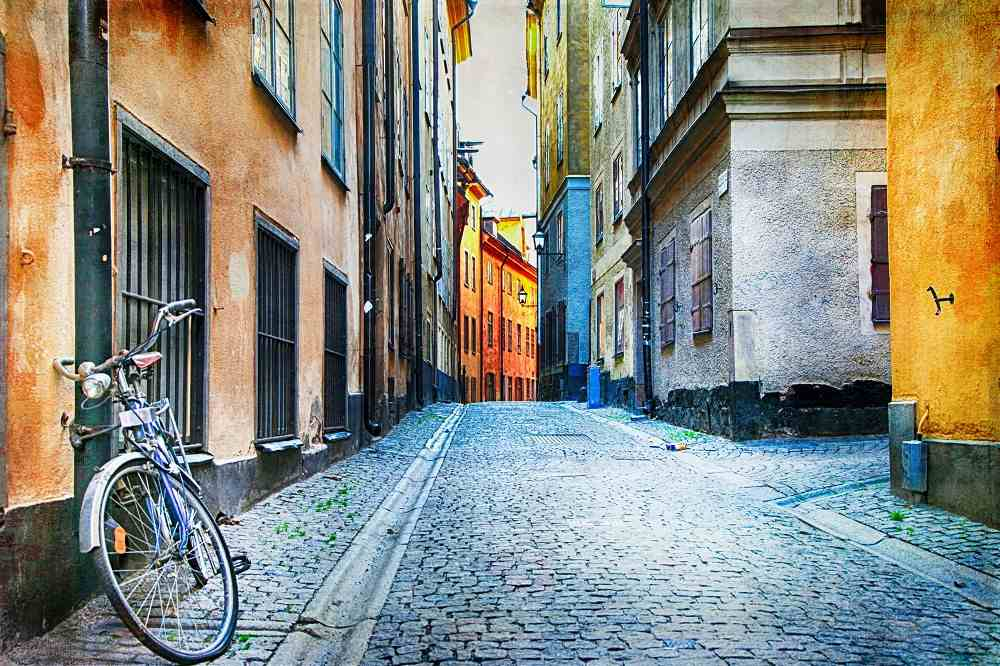 What to do in Stockholm: Taking a stroll along the Authentic cobbled streets of the Old Town is one of the best things to do when spending 3 days in Stockholm.