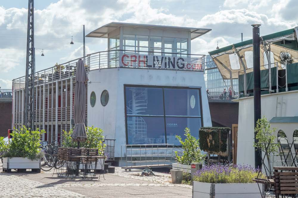Cool hotels in Copenhagen: CPH Living is a houseboat gone hotel.