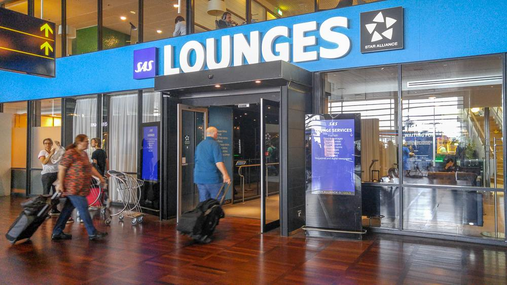 Copenhagen airport lounges: The SAS lounge is one of the biggest lounges at Copenhagen airport.