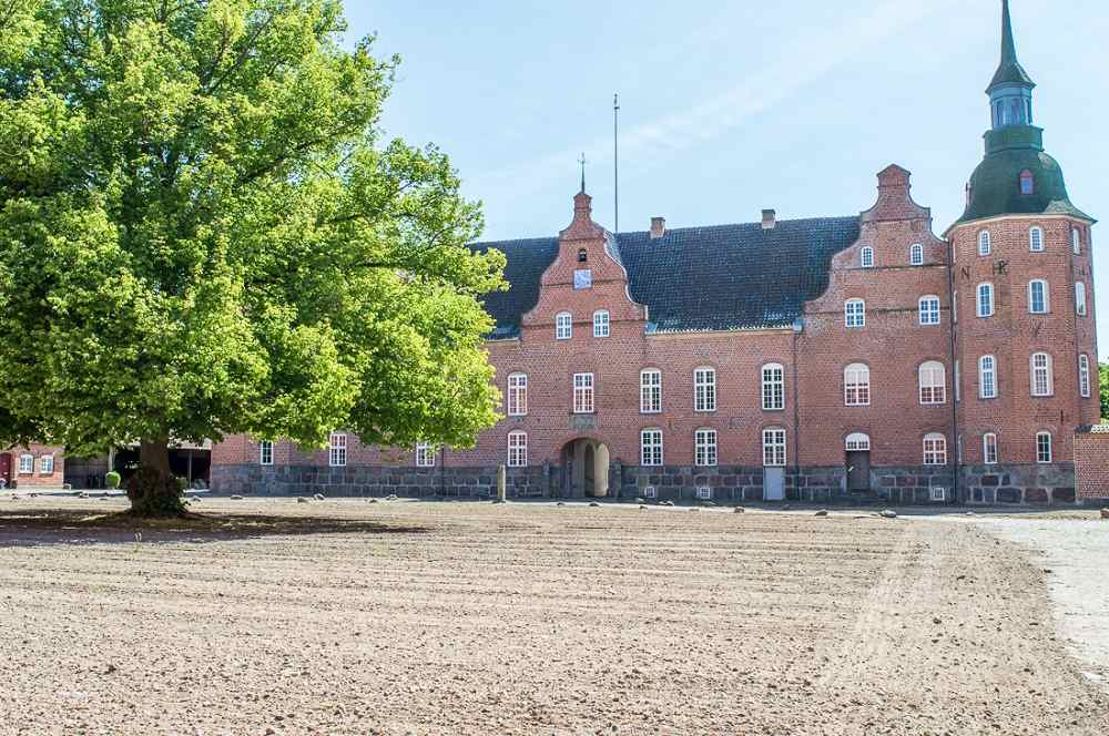 Holsteinborg is well tucked away in the Danish countryside.
