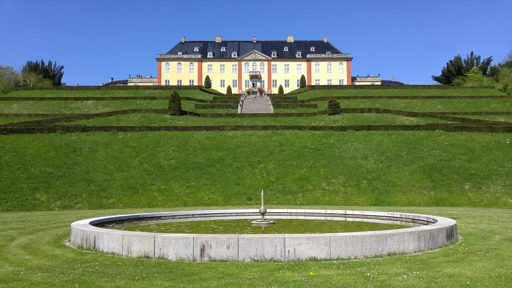 What to do in Roskilde: Ledreborg Castle is perched on a steep hill.