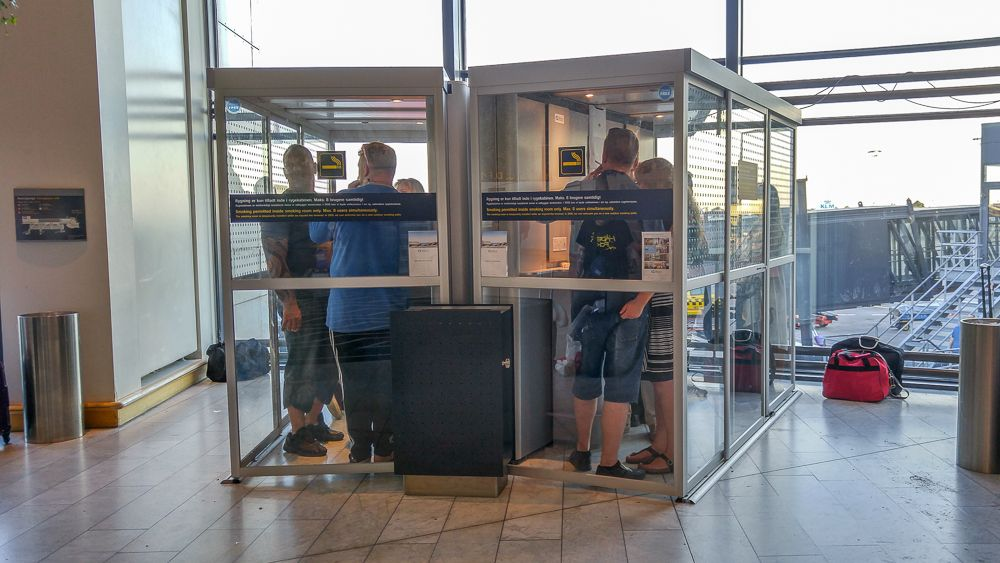Smoking at Copenhagen airport: A smoking cabin is available close to the A gates.