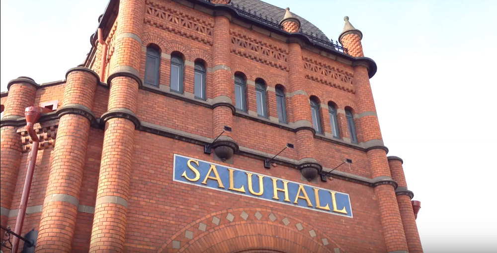 Where to eat in Stockholm: Exterior of the market hall in Östermalm.