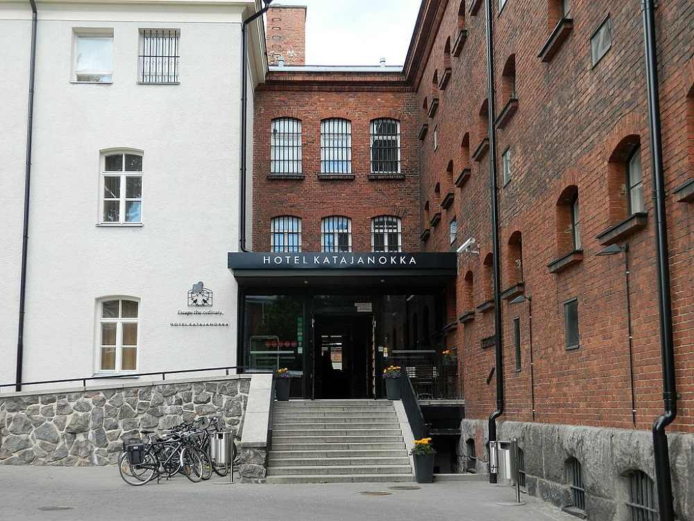 Hotel Katajanokka in Helsinki is a former prison that has been converted to a hotel.