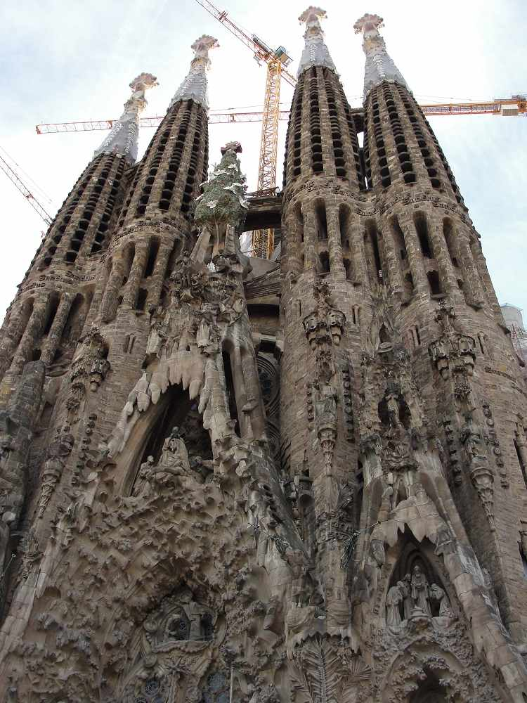 Sagrada Familia is Antonio Gaudi's most notable work and a great example of Modernisme in Barcelona.