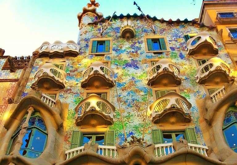 Casa Batllo is a prime example of Art Nouveau in Barcelona.