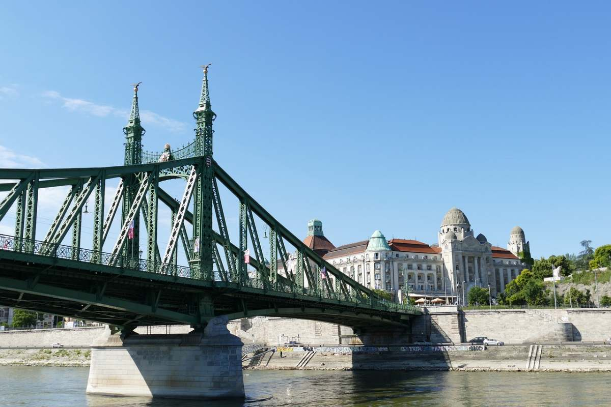 Liberty Bridge and the Gellert complex are both great examples of Art Nouveau in Budapest.
