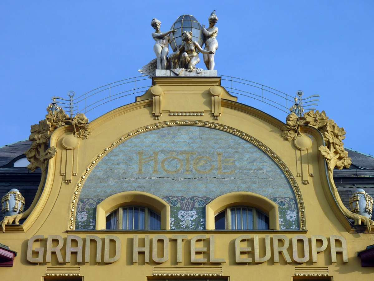 The Grand Hotel Europa is a striking example of Art Nouveau in Prague.