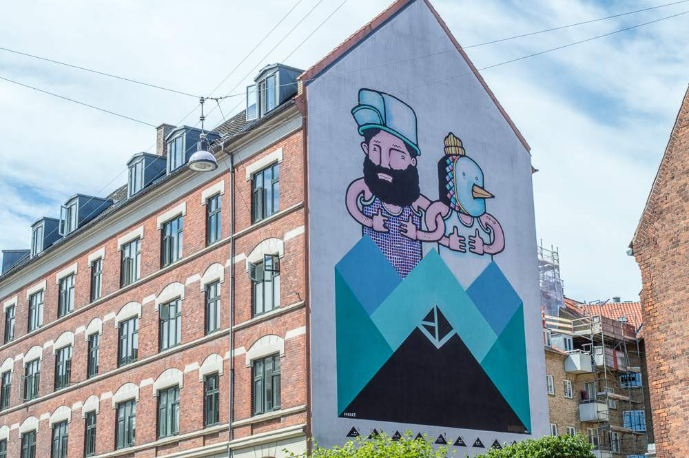 An example of Copenhagen Street Art on Bragesgade.