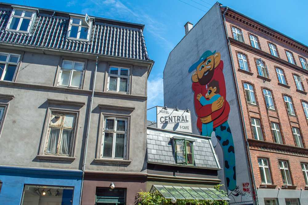 An example of Copenhagen Street Art on Tullinsgade.