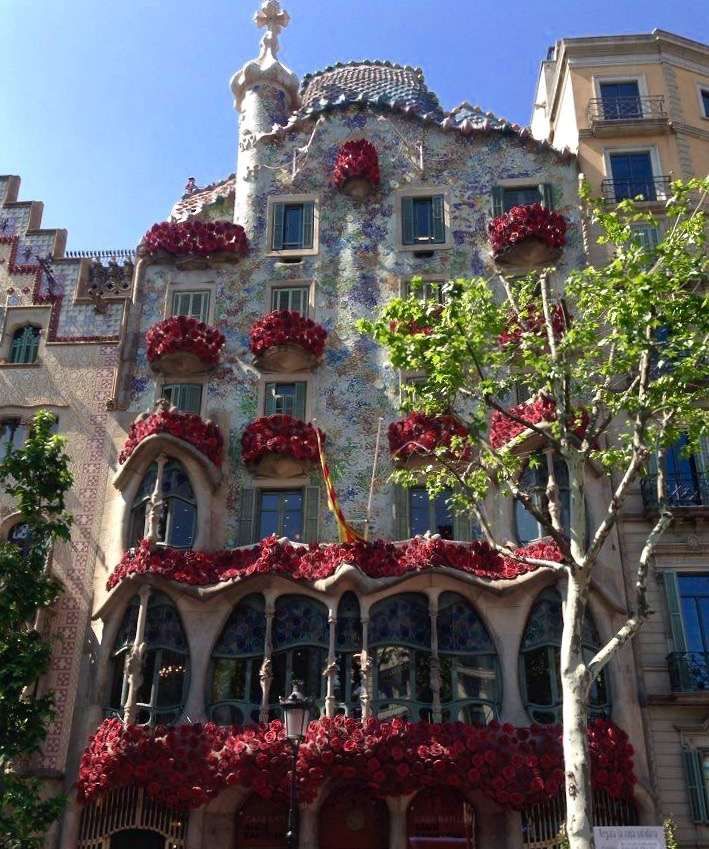 Casa Batllo is one of the most famous Gaudi buildings in Barcelona and a great example of Catalan Modernism.