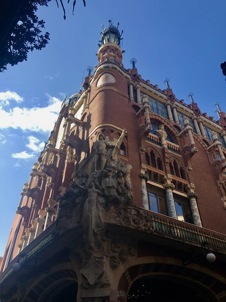 Palau Palace is a prime example of Catalan Modernism in Barcelona.