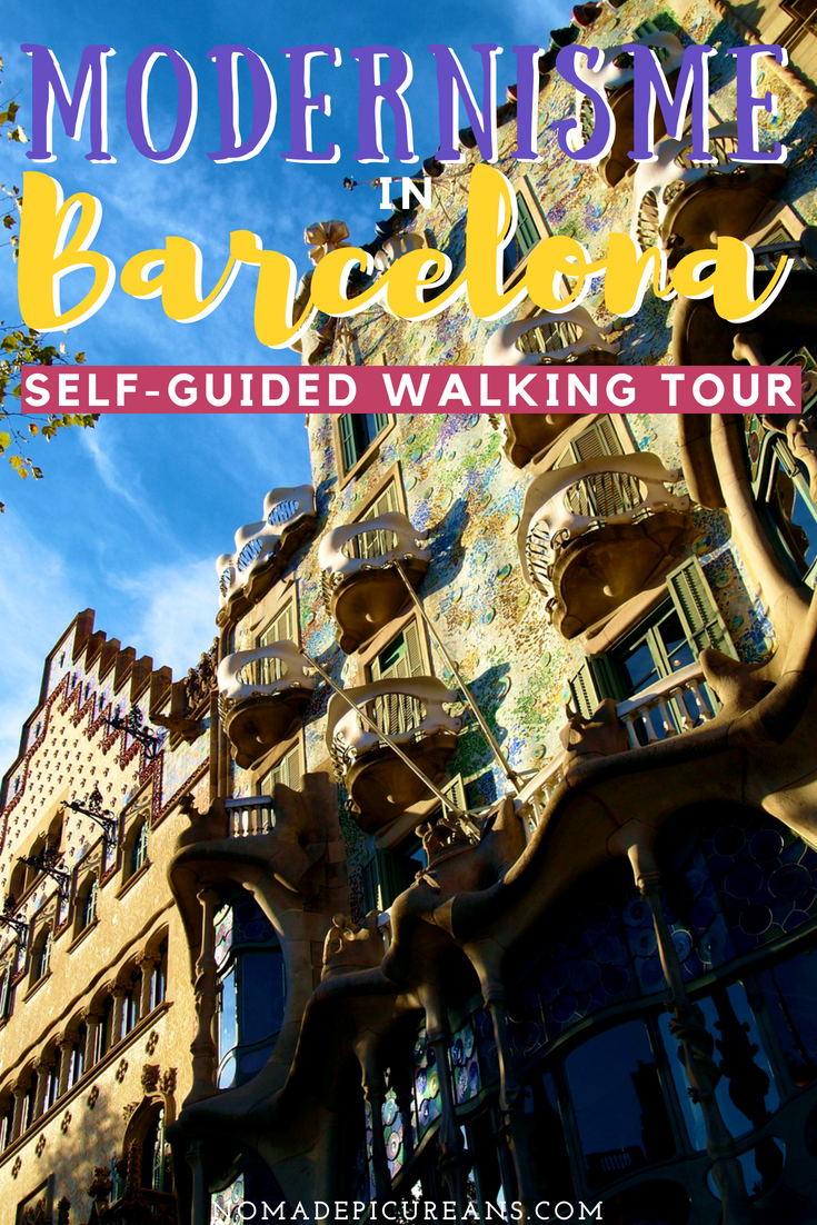 Explore some of Barcelona's most beautiful architecture with our self-guided walking tour. See some of the best Gaudi buildings in Barcelona and learn more about Modernisme architecture. #travel #spain #barcelona #architecture