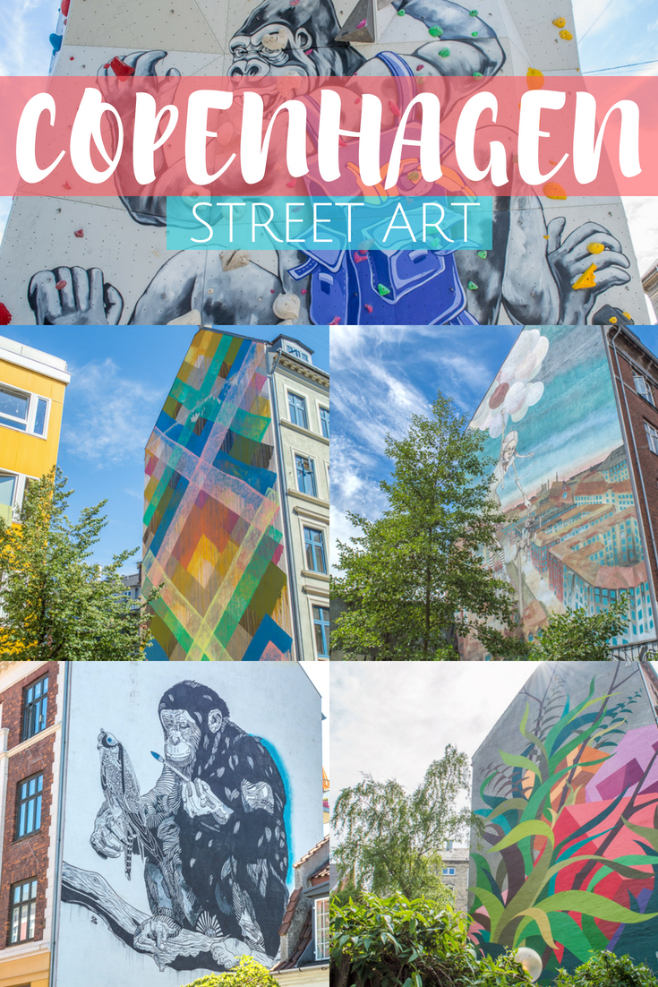Your ultimate guide to street art in Copenhagen. Find the city's most beautiful murals with our free downloadable map! #travel #copenhagen #denmark