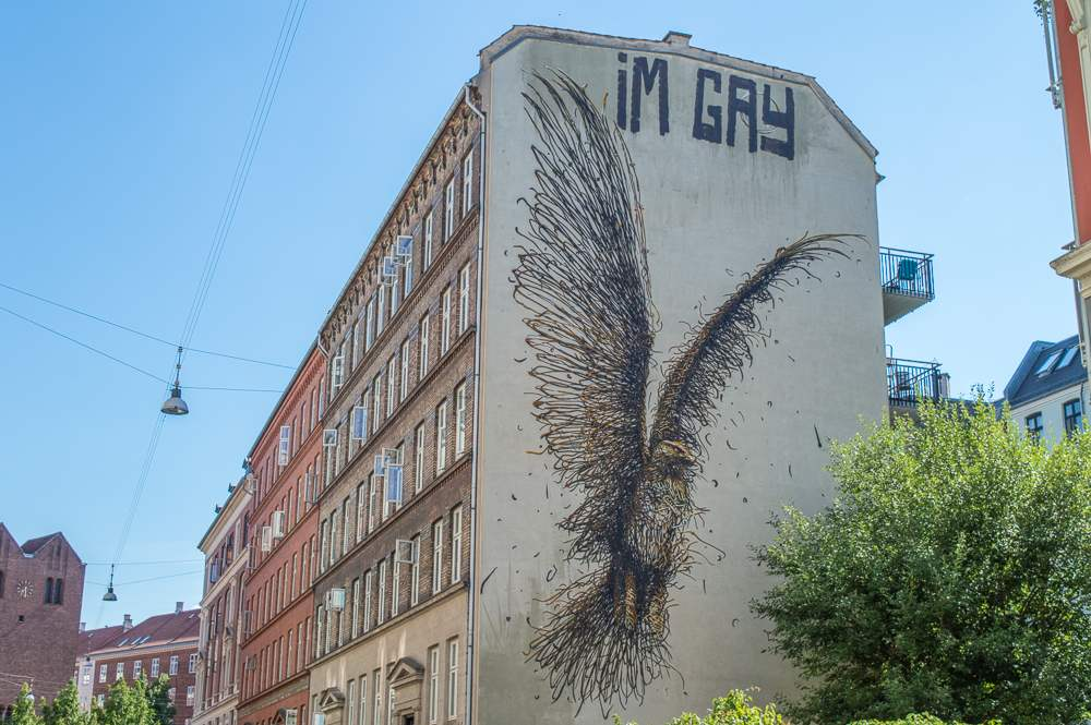 An example of Copenhagen Street Art on Oehlenschlægersgade.