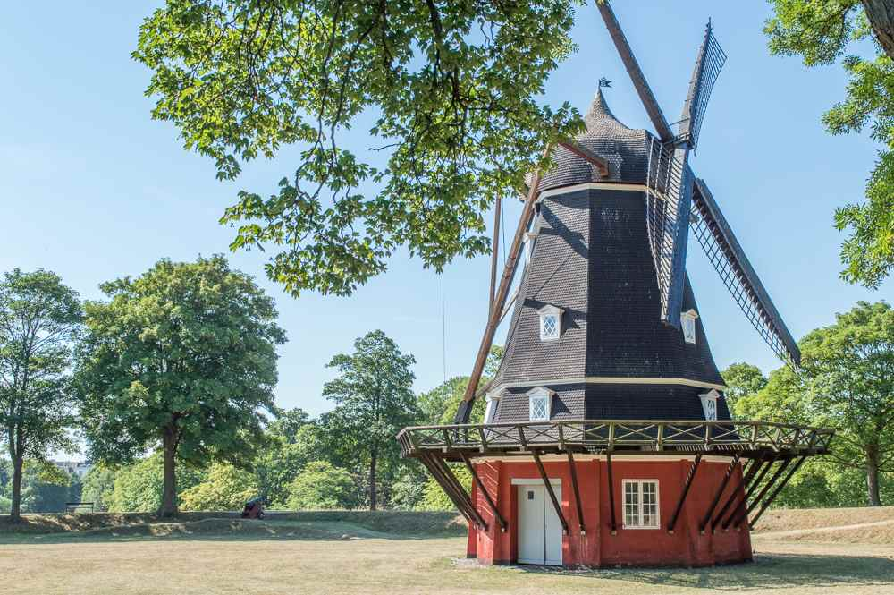 This Dutch style windmill is a hidden gem in Copenhagen.