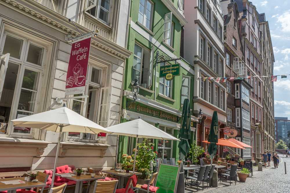 Deichstrasse is an essential part of historic Hamburg and a a perfect place for coffee in Hamburg.