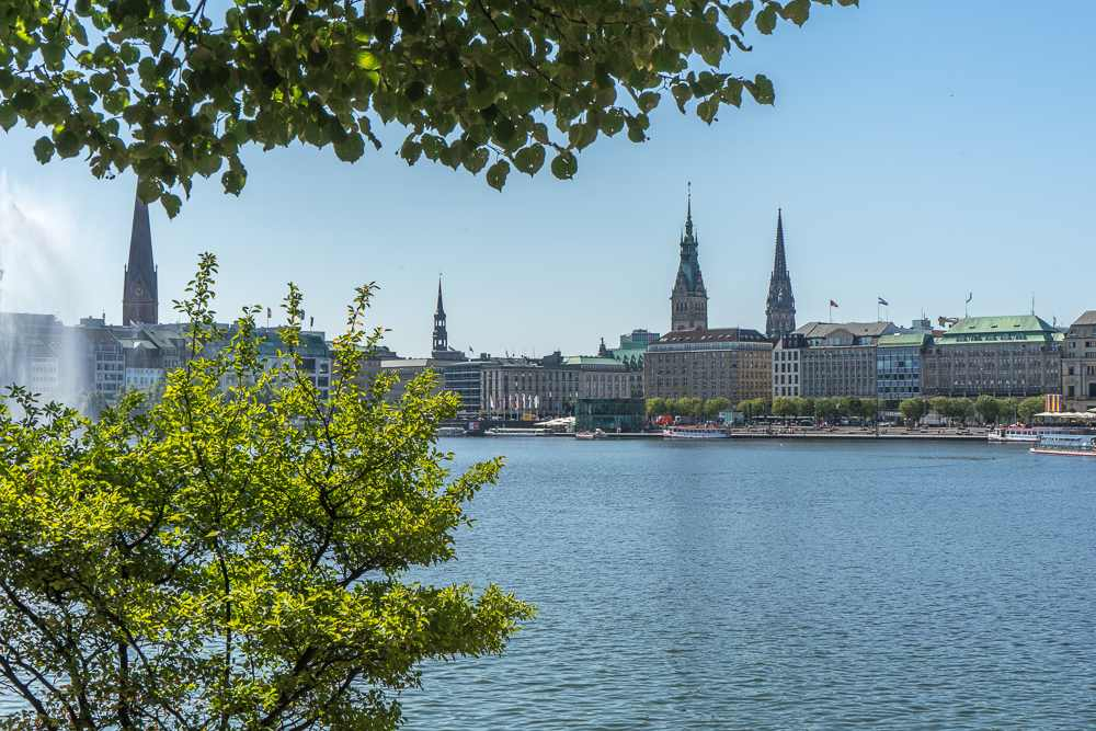 Strolling along the Alster Lakes and Jungfernstieg is a must do in Hamburg.