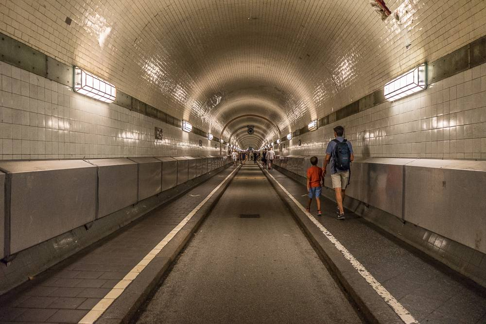 The Old Elbtunnel is one of the top attractions in Hamburg.