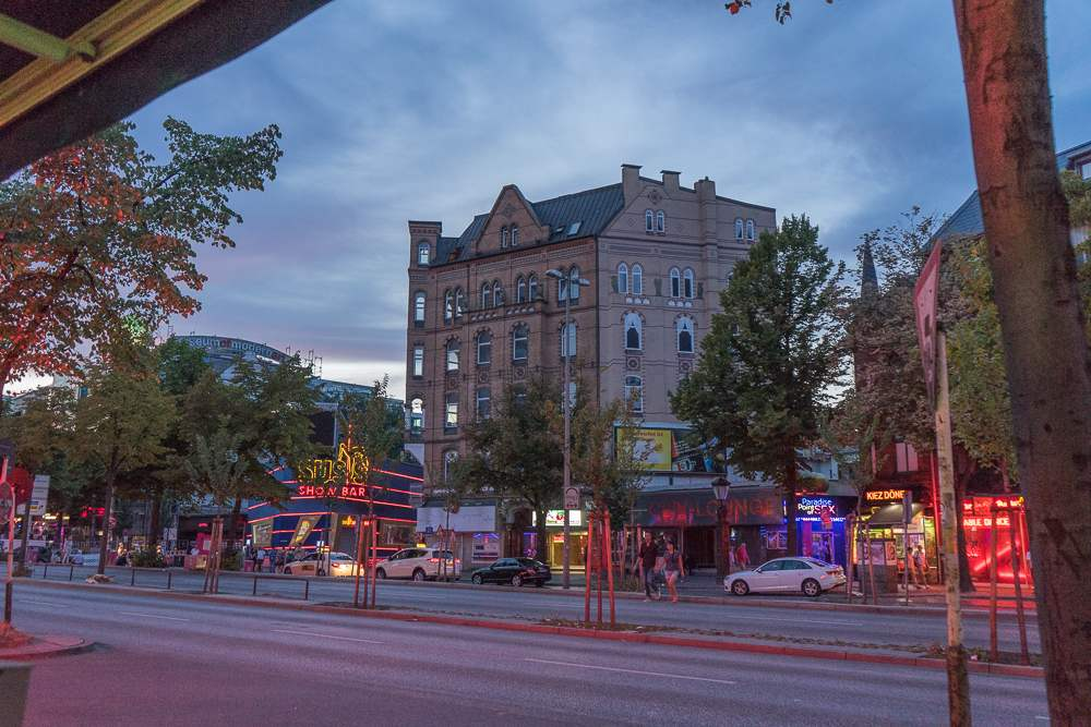 Reeperbahn is the place to go for fun during your weekend in Hamburg.