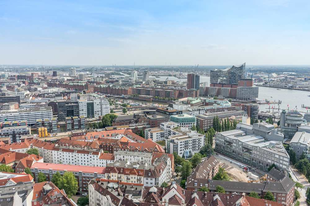 If you only have a short time in Hamburg, make sure to take in the views from St. Michael's church.