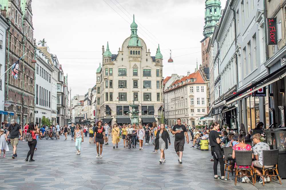 Stroget is the best place to go shopping in Copenhagen.
