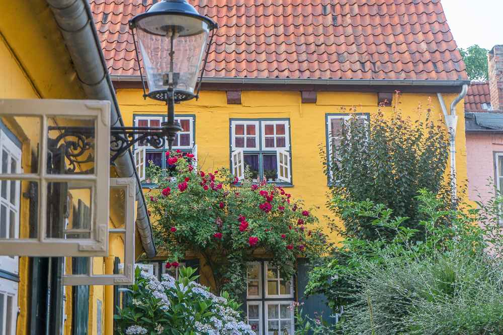 Lubeck's Old Town is full of beautiful courtyards.