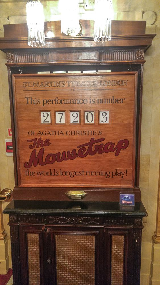 Thousands of people have seen the Mousetrap in London.