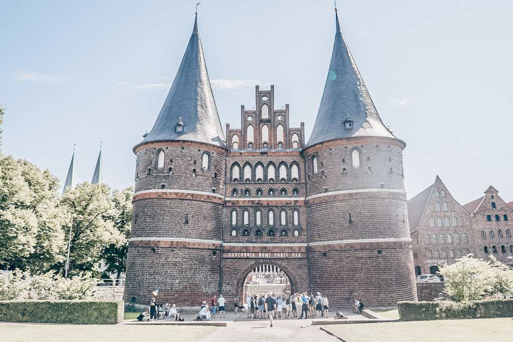 The Holstentor is one of the main things to see in Lubeck.
