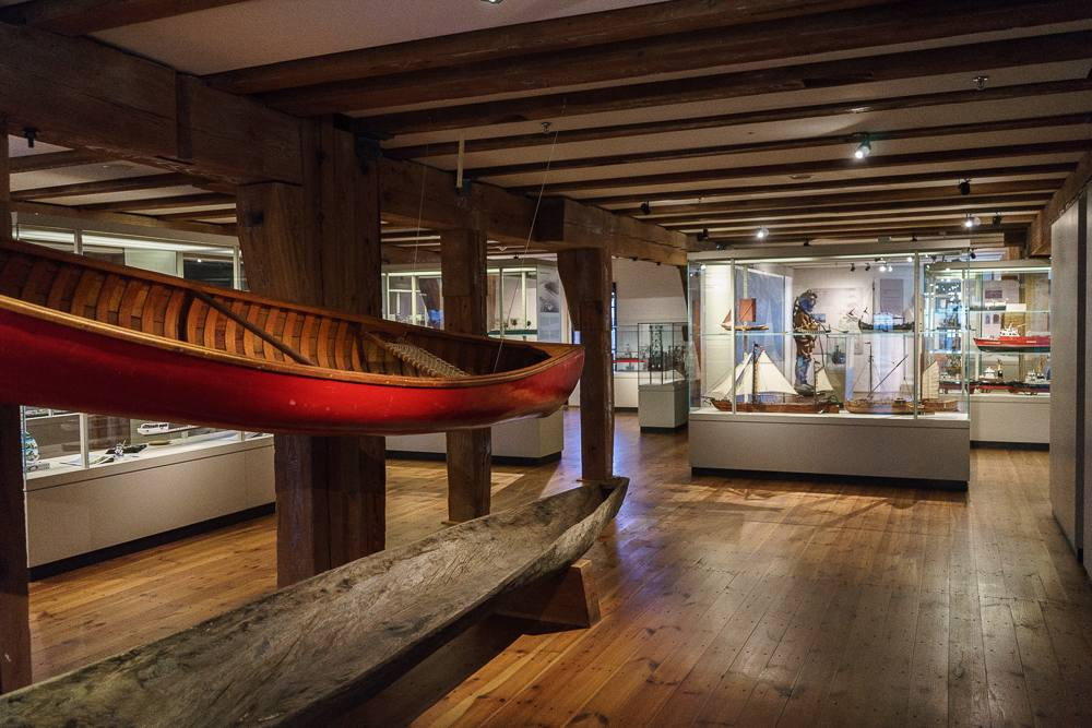 The collection on display at the Maritime Museum in Hamburg is very extensive.
