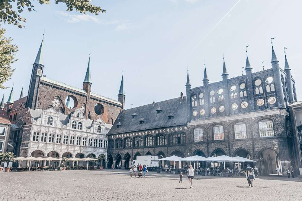 City hall and its adjacent square are must-sees in Lubeck.