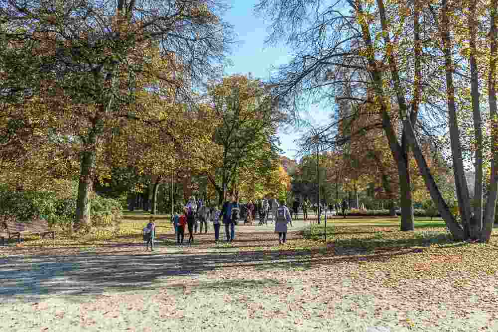 Bernardine Park is one of the most beautiful parks in Vilnius.