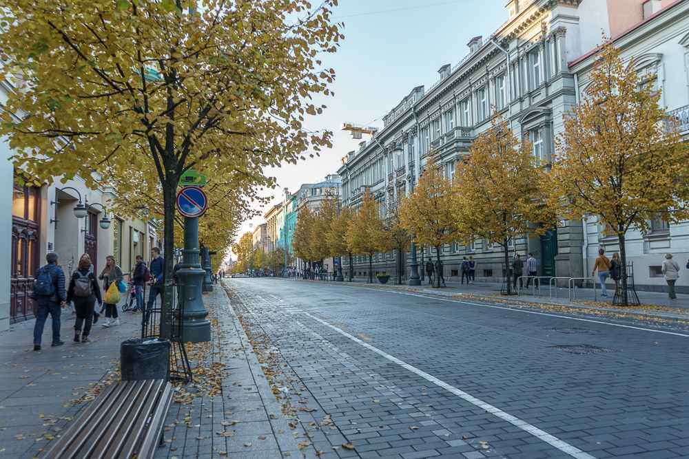Gediminas Avenue is one of the best places to go shopping in Vilnius.