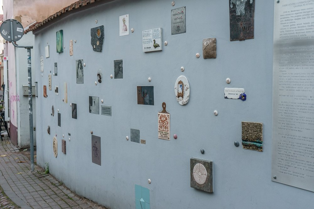 Swing by Literatu street and pay homage to some of Lithuania's most important writers.