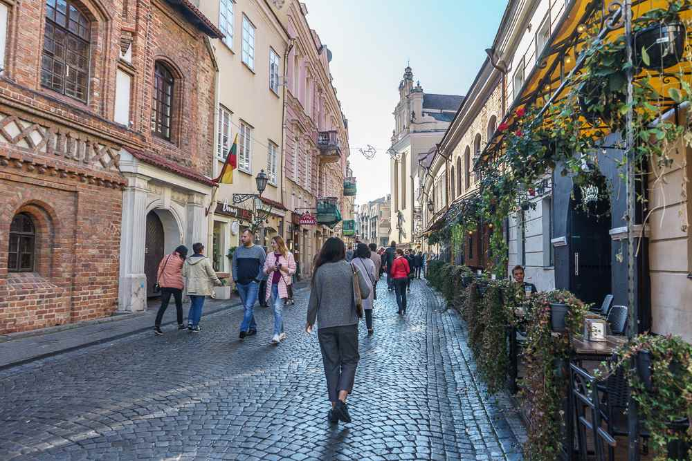 You can find the best souvenirs from Vilnius on Pilies street.