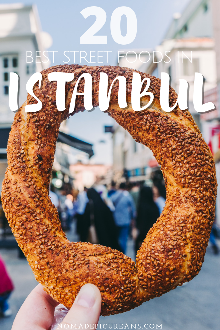Going to Istanbul and looking for the best street food? Read all about the best snacks and drinks in this comprehensive guide. Includes vegetarian and vegan options. #travel #istanbul