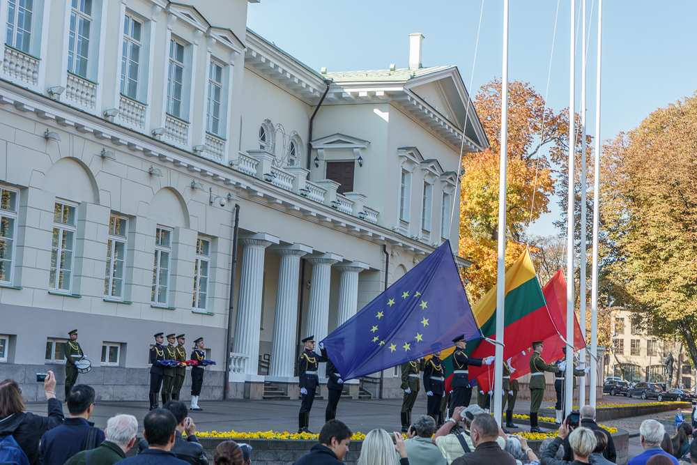 Make sure to catch the flag hoisting ceremony at the presidential palace in Vilnius.